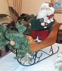Vintage Santa and Sleigh