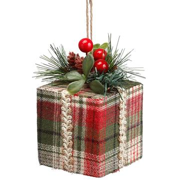 Ornament Gift Box Plaid
