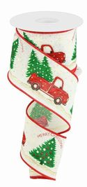 Ribbon Truck with Christmas Trees