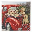 Puppies in Truck Lighted Print